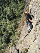 Rock Climbing Photo: Mauricio Herrera Cuadra on the 2nd crux of La Palo...