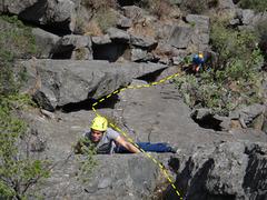 Rock Climbing Photo: Ruben Perez Ramirez climbing La Paloma.  Photo by ...