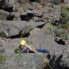 Ruben Perez Ramirez climbing La Paloma.<br> <br> Photo by Mauricio Herrera Cuadra.