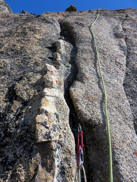 Quartz dike at the end of Pitch 4.