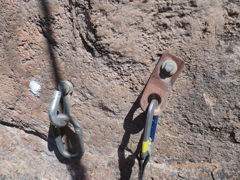 Rock Climbing Photo: The original shit anchor of Cool World before the ...