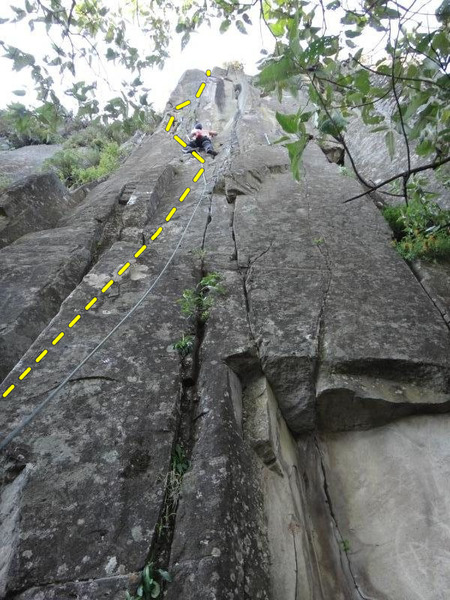 Francisco Trad climbing Soñar con Ser Mas.<br> <br> Photo by Mauricio Herrera Cuadra.