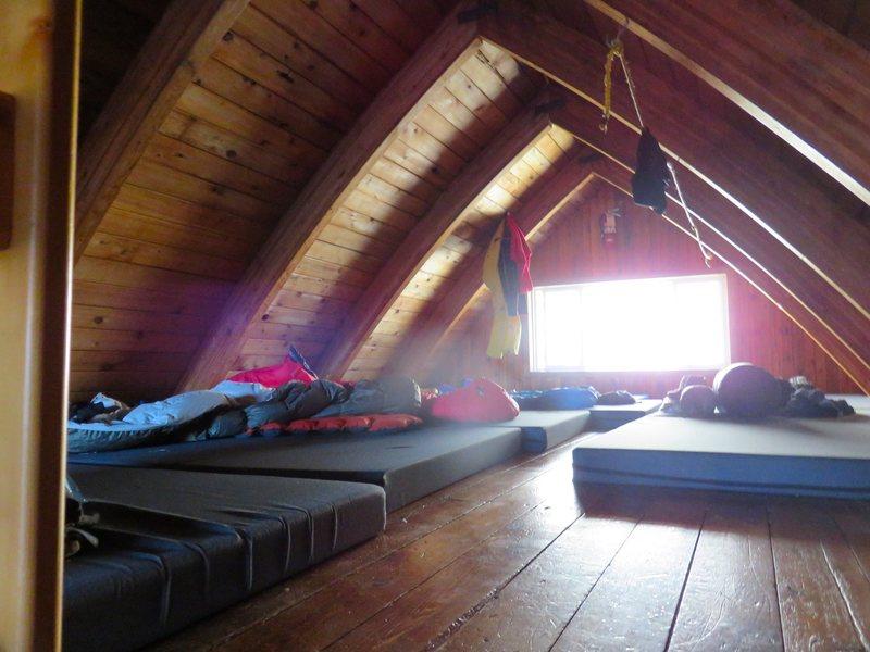 Rock Climbing Photo: Inside Kain Hut.