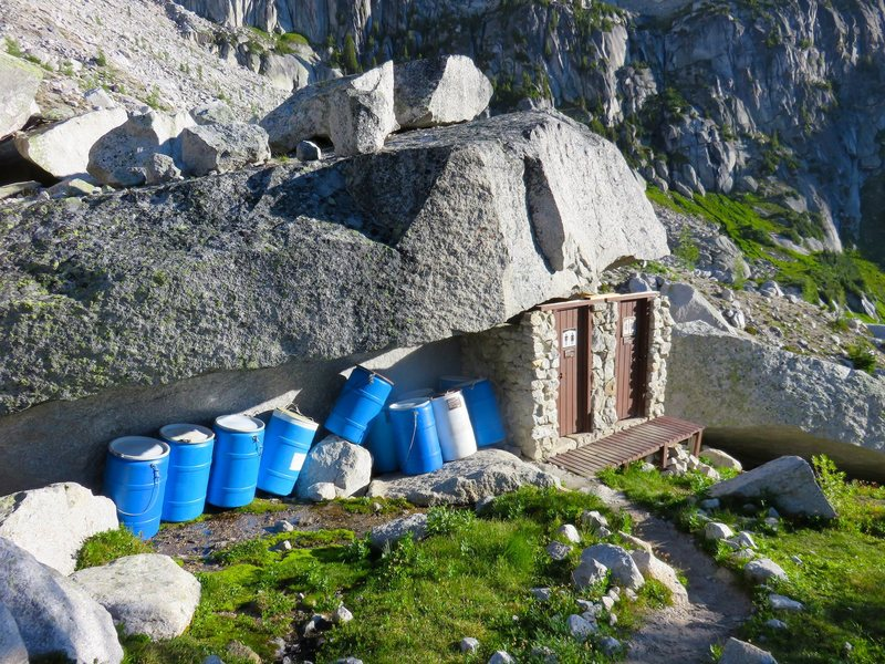 Outhouses near Kain Hut.