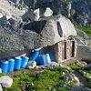 Outhouses near Kain Hut.
