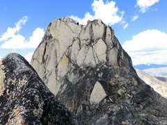 Rock Climbing Photo: Scramble to summit (3rd with a few 5th class steps...