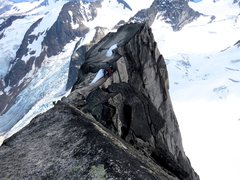 Rock Climbing Photo: The three climbers in the photo are at the rap sta...