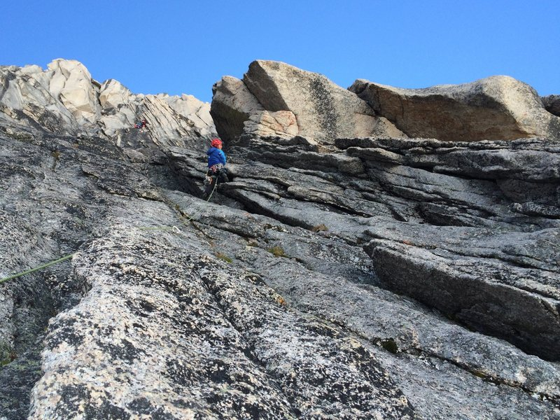 Rock Climbing Photo: In this photo I am leading Pitch 2. I am looking f...