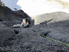 Rock Climbing Photo: Pitch 9. (this was when the sun first hit us on th...