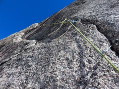 Rock Climbing Photo: Pitch 11 has two options: Either make a 5.10 bould...