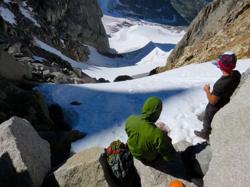 Rock Climbing Photo: At the Pigeon-Howser Col looking down into East Cr...