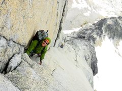 Rock Climbing Photo: The awesome corner of Pitches 6-7.