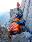 Rock Climbing Photo: Bivy site below Great White Headwall.