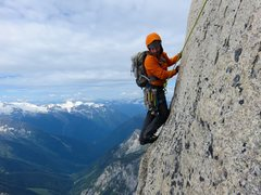 Rock Climbing Photo: Tension traverse (or 5.10 free) at start of Pitch ...