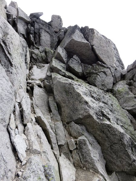 Rock Climbing Photo: The climb ends with ~150-200m of 4th + several sho...
