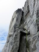 Rock Climbing Photo: At the top of Pitch 15, make a 20m rappel to the r...