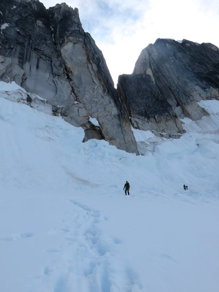 Rock Climbing Photo: The rap route puts you on flat glacier.