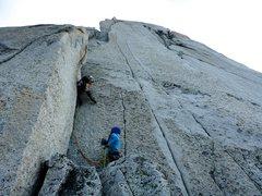Rock Climbing Photo: Starting up Pitch 11.