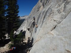 Rock Climbing Photo: First trad lead...they grow up so fast these days....