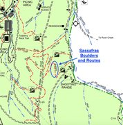 Rock Climbing Photo: This is the Kanawha State Forest Map, and at the t...