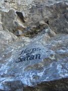 Rock Climbing Photo: writing on the wall