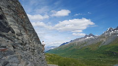 Rock Climbing Photo: Visiting climbers from the states play on backflip...