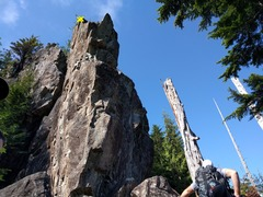 Rock Climbing Photo: Left of the nose is Peanut Brittle. You can use th...