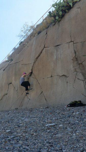 Climbing at Swan Hands in Tucson, AZ
