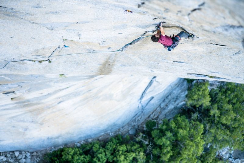 Those cracks on Lurking Fear are steep. Photo by Cheyne Lempe