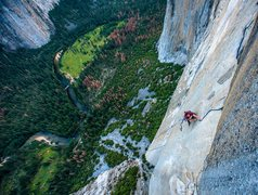 Rock Climbing Photo: Somewhat of a death loop on top of Zodiac. Photo b...