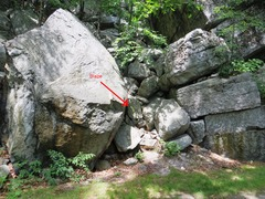 Rock Climbing Photo: Yellow Wall / Airy Aria approach trail.  The next ...