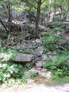 Rock Climbing Photo: Double Crack / Uphill All the Way approach trail. ...