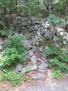 Rock Climbing Photo: Slime Wall / WASP approach trail.  The next trail ...