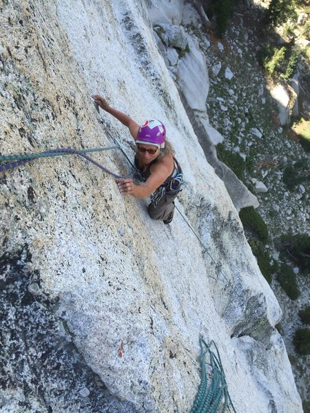 Rock Climbing Photo: The fun face move finish of P2