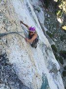 Rock Climbing Photo: The fun face move finish of P2