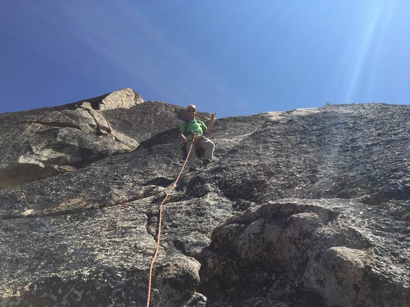 Rock Climbing Photo: Pitch four taken from directly about the 10b finge...