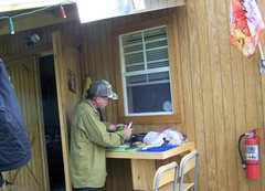 Rock Climbing Photo: stop over at my outdoor kitchen area to visit, sha...