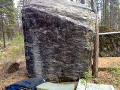 Rock Climbing Photo: (Dance Revolution boulder;Closest to parking lot) ...