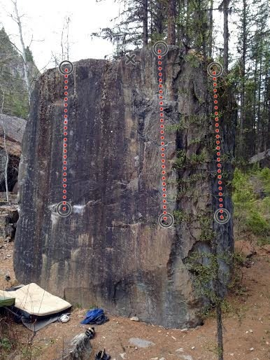 Rock Climbing Photo: Biggest boulder in the area!: Going to Kali