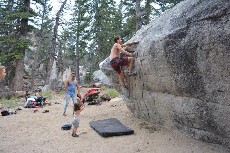 Rock Climbing Photo: Attentive spotting