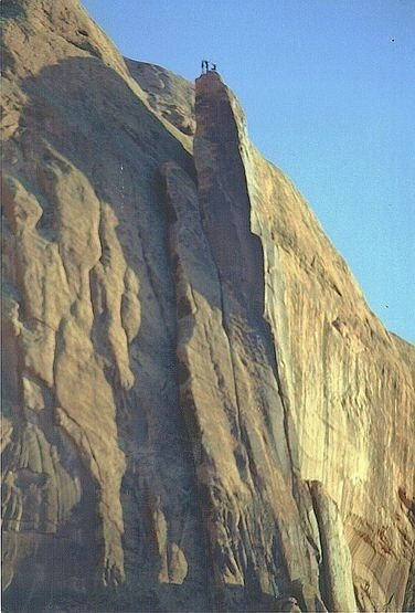 Moab Rim Tower FA 1999 with Jimmy Dunn Billy Rothstein