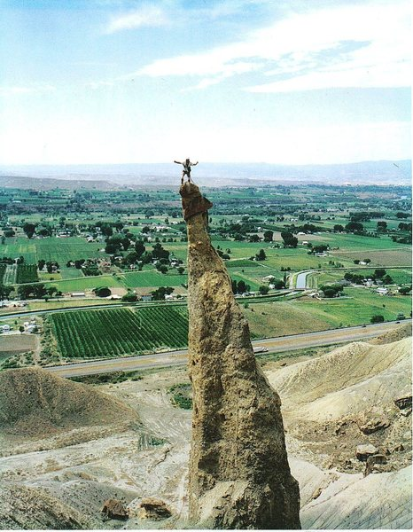 Rock Climbing Photo: FA P.Ross Sword of Damocles  Palisade CO. 2000