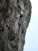 Rock Climbing Photo: tsunami lead