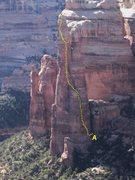 Rock Climbing Photo: FA Texas Tower East Face 800' P.Ross J.Pheasan...