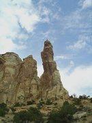 Rock Climbing Photo: FA Napes Needle. San Rafael Swell (North)P.Ross. L...