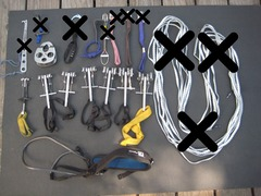 Rock Climbing Photo: more assorted kit