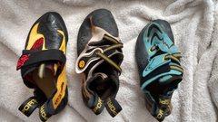 Rock Climbing Photo: Top view: 38 Skwama, 38.5 Solution, 38 Futura
