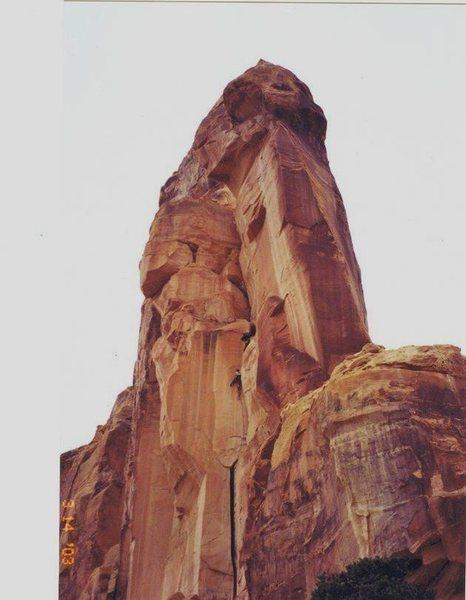 Rock Climbing Photo: FA Sodizin Tower San Rafael Swell (North).Utah FA&...