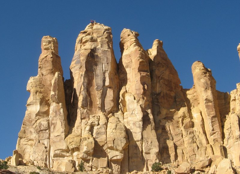 FA Rising Sons Tower. Family Butte .San Rafael Swell (South) Utah .with Andy Ross and Shingo Ohkawa 2012