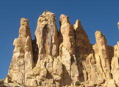 Rock Climbing Photo: FA Rising Sons Tower. Family Butte .San Rafael Swe...
